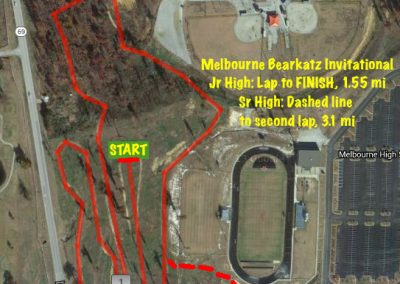 Melbourne Bearkatz Invitational Map