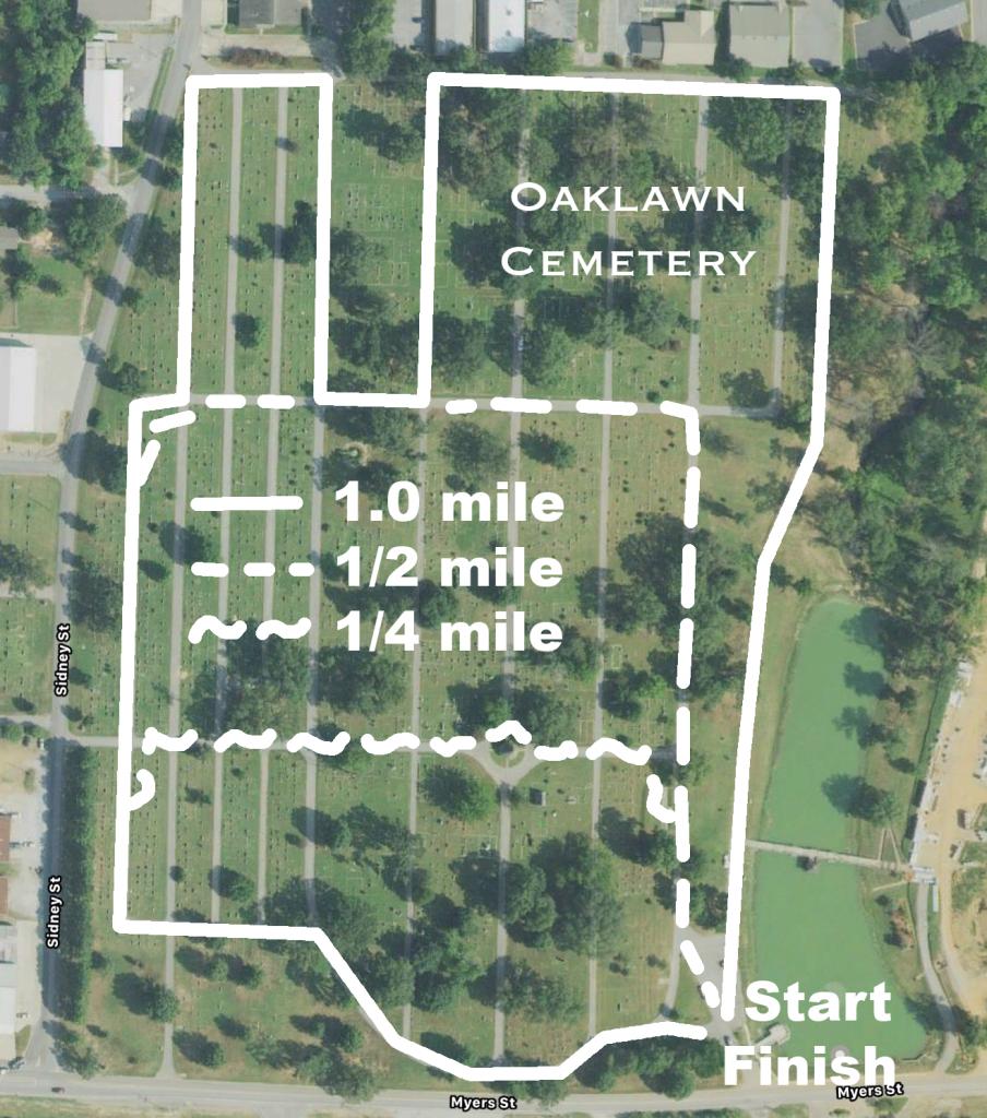 Oaklawn Cemetery loops
