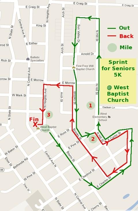 Sprint for Seniors/Lottie Moon 5K