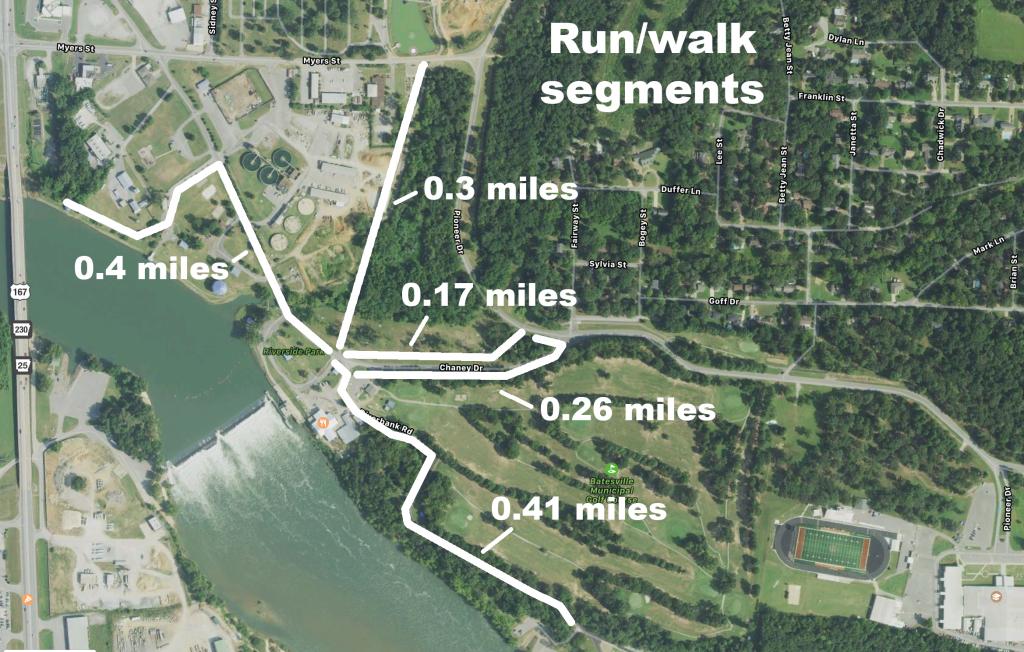 River Park trail segments